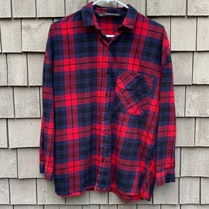 Zara plaid thermal button up size small GUC